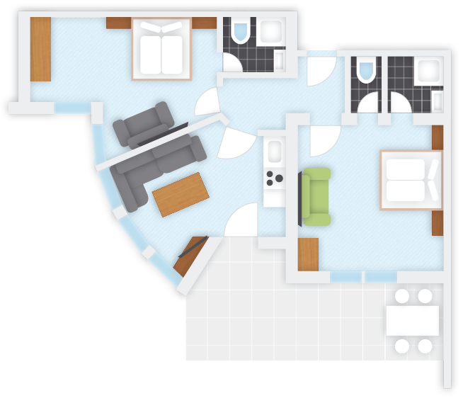 Apartment 2, plan