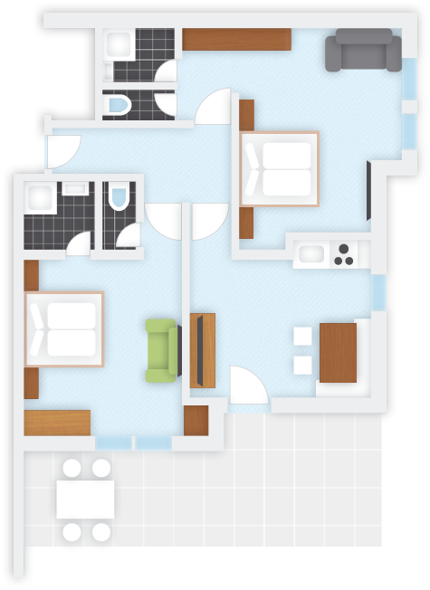Apartment 3, plan