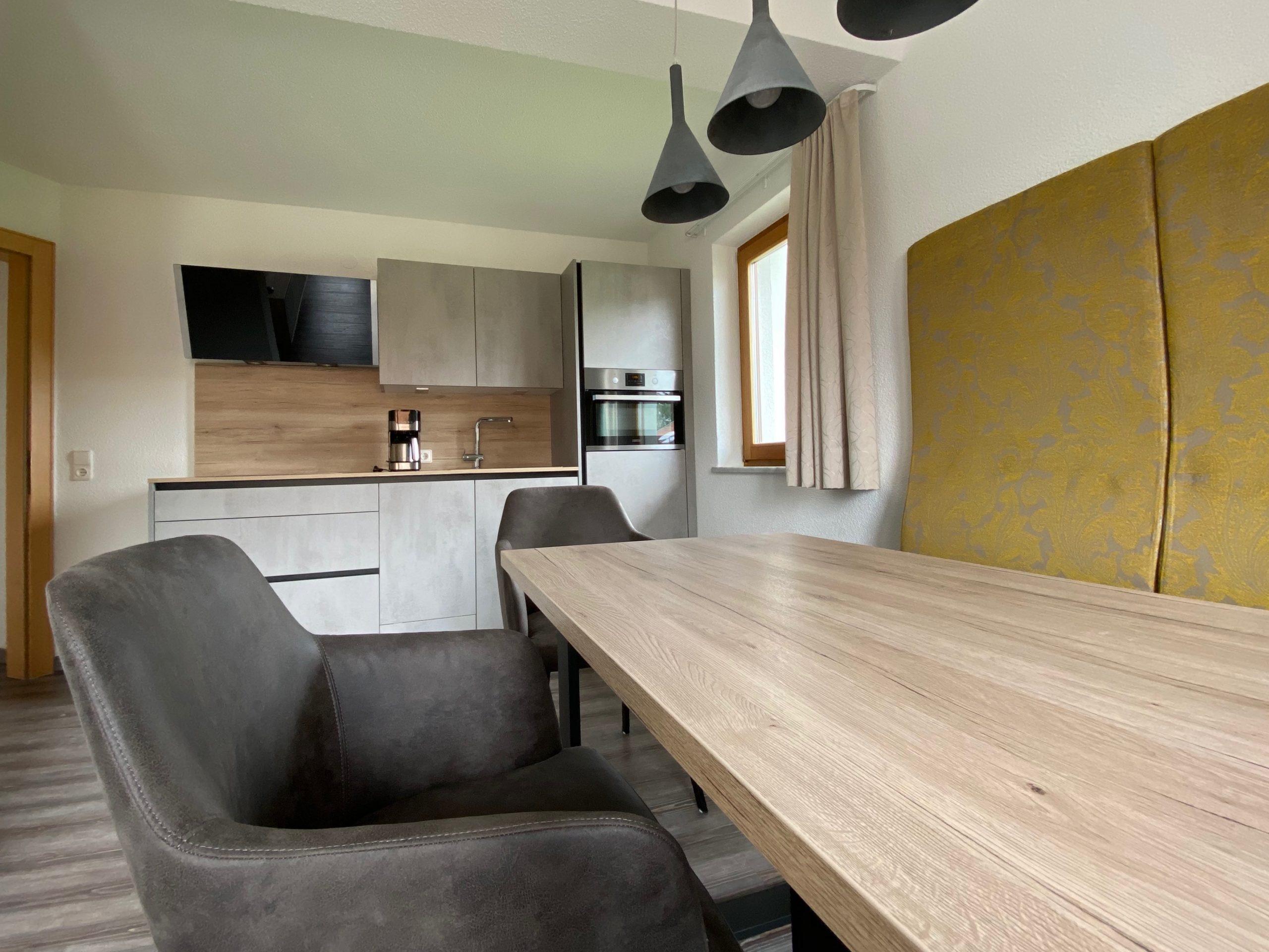 Ferienwohnung 1, Wohnzimmer und Küche